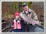 A nice catch on a father/son fishing trip down the Coastal Rivers.