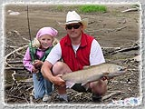 A nice catch on a Father-Daughter fishing trip down the Willamette.