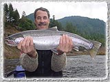 A nice catch on a recent fishing trip down the Salmon Main.